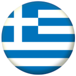 Greece Country Flag 58mm Button Badge